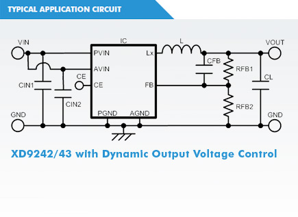 XD9243 Circuit with Dynamic Output Voltage