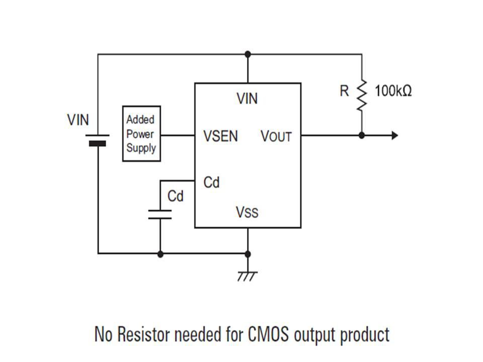 XC6108 Typical Application Circuit