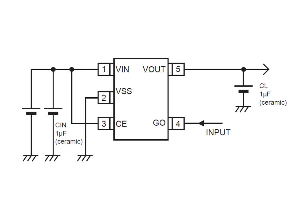 XC6207 Typical Application Circuit