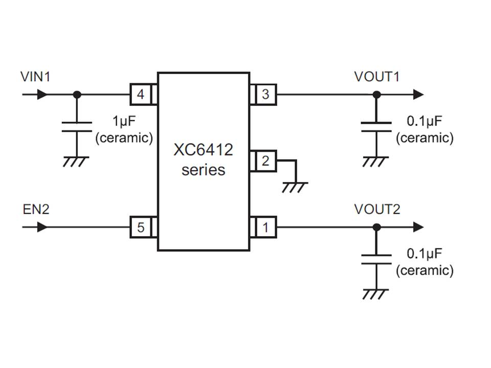 XC6412 Typical Application Circuit