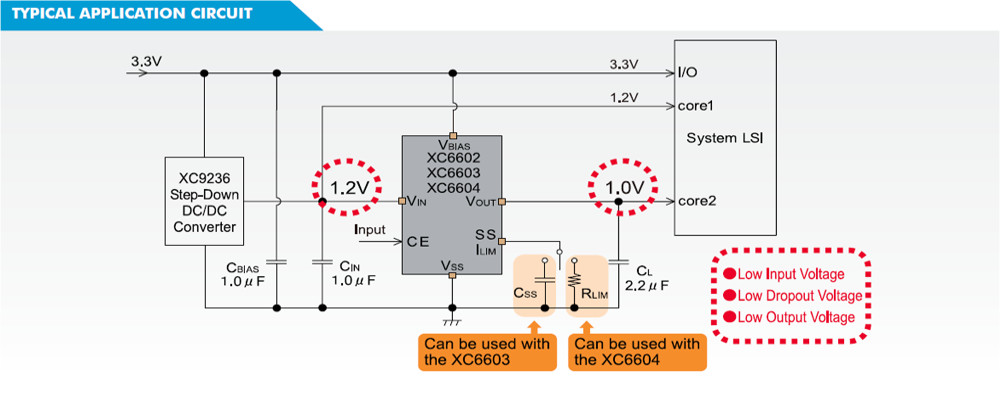 XC6602 Typical Application Circuit
