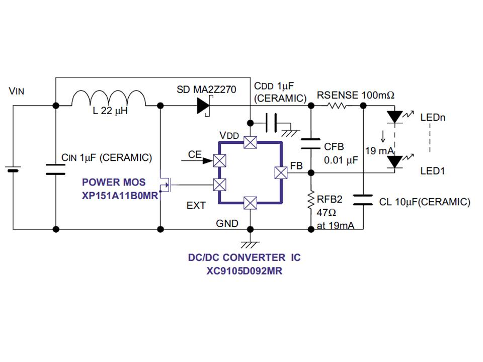 XC9104 Application Circuit