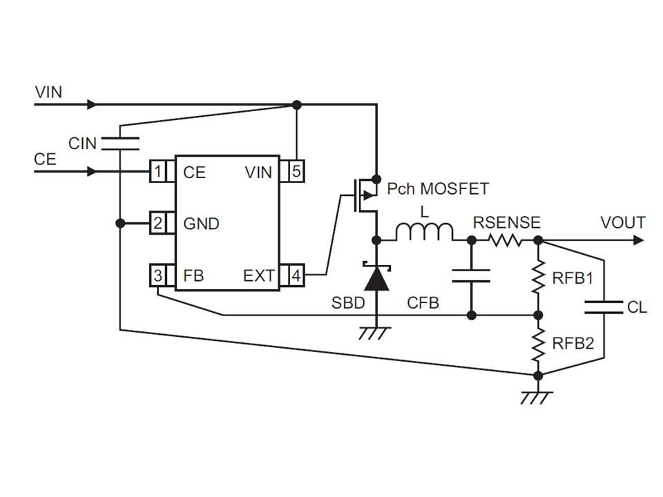 XC9221 Typical Application Circuit