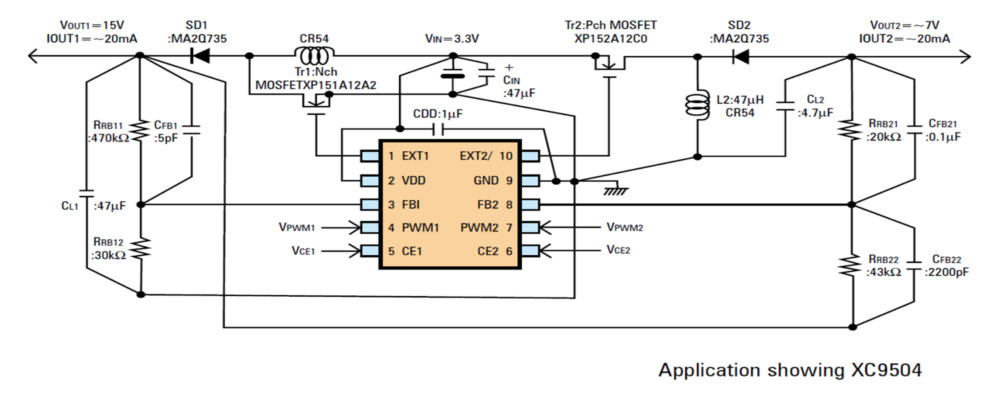 XC9502 Typical Application Circuit